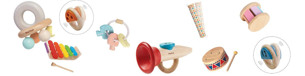 Our musical toys make pleasant donking and shaking sounds. #myscallywag