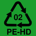 Recycle symbol. HDPE (High-Density Polyethylene). This is BPA free and Phthalate free.