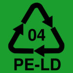 Recycle symbol. LDPE (Low-density polyethylene). This is BPA free and Phthalate free.