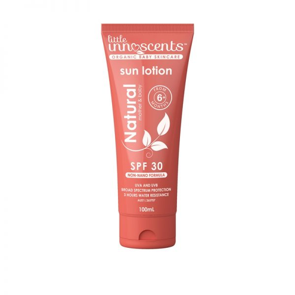 Little Innoscents organic sunscreen contains no nanoparticles. It is free from preservatives, fragrances, paraben and chemical absorbers. #Myscallywag https://myscallywag.com.au/product/organic-sunscreen-by-little-innoscents/