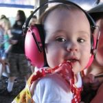 Kids earmuffs at a music festival